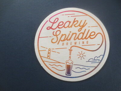 1 only LEAKY SPINDLE Micro BREWERY,Queensland   BEER  COASTER