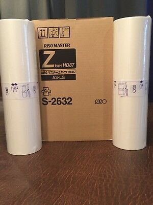 Riso Genuine Z Type S-2632 Master Roll Box Of 2 For Rz990 Rz1090 New