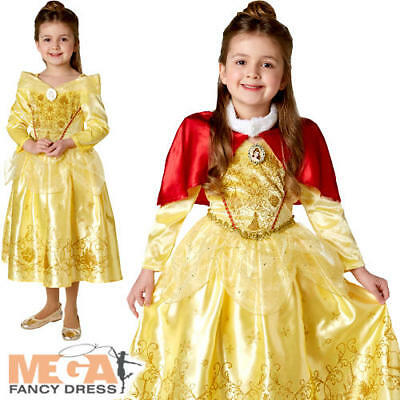 1e8ad817dfc2 Winter Belle Girls Fancy Dress Disney Beauty and The Beast Childrens Kid  Costume