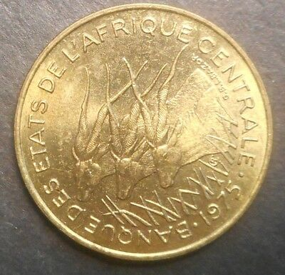 Central African States 1975 25   franc  Coin aUNC /UNC
