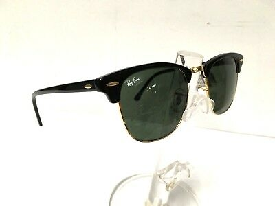 5fe2dc6d4b Ray Ban Clubmaster RB3016 W0365 Sunglasses Black Green Classic G-15 Lens  51mm