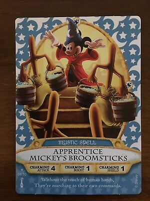 Sorcerers of the Magic Kingdom Card #01 Apprentice Mickey's Broomsticks