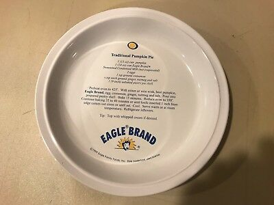 Eagle Foods Brand ELSIE the cow Pumpkin Pie Recipe Woodmere China Pie Plate 1999