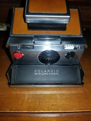 Polaroid SX-70 Alpha 1 Land Camera Brown Leather Very Good Condition!!
