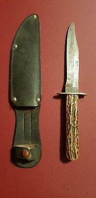 Vintage Joseph Allen & Sons Non XLL Sheffield England Hunting Knife And Sheath