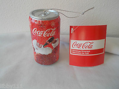 Coca-Cola Soda Can with Santa Christmas Ornament New Kurt S. Adler New