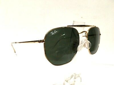 7c0500aaad4 RAY BAN NEW Sunglasses Marshal Gold Green G-15 RB3648 001 54 21 145 ...