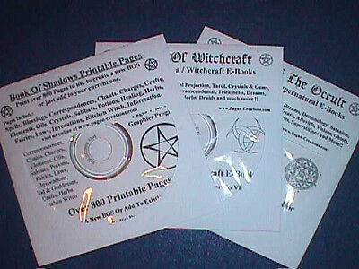3 CD Package ~ BOS Pages, Wicca/Witchcraft,  Supernatural & Occult eBooks on CDs
