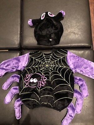 New Without Tags Baby Spider Costume Boy Or Girl Size 6/12 Months