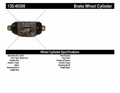 Drum Brake Wheel Cylinder-C-TEK Standard Wheel Cylinder Rear Left fits Odyssey