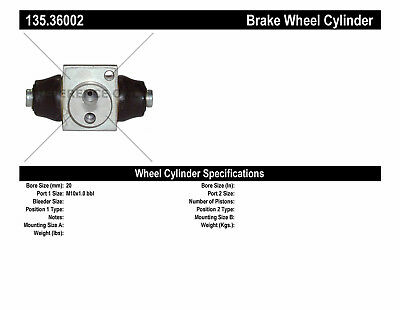 Drum Brake Wheel Cylinder-C-TEK Standard Wheel Cylinder Rear fits 01-03 L200