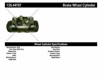 Drum Brake Wheel Cylinder-C-TEK Standard Wheel Cylinder Rear fits 85-93 Pickup