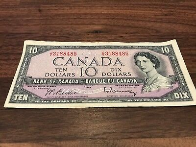 1954 - Canadian $10 bill - ten dollar Canada note