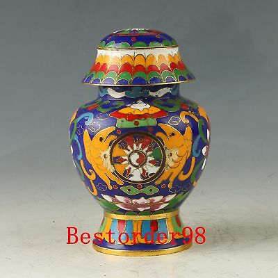 Chinese Exquisite Cloisonne Handwork Carved Flower Pot CC0525