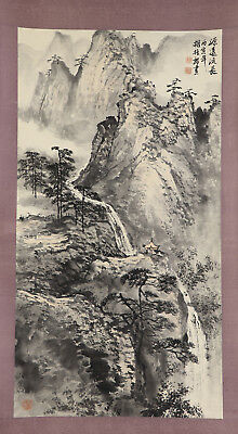 CHINESE HANGING SCROLL ART Painting Sansui Landscape  #E4340