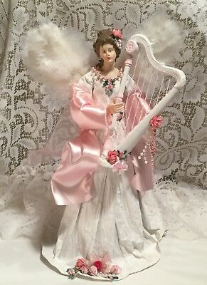 Shabby Cottage Chic 14 Inch Tall Christmas Angel
