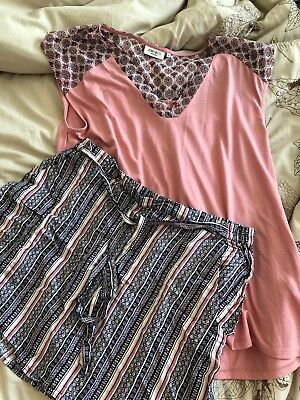 Jeansweat Skirt And Matching Top Size 16