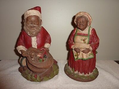 Tom Clark Gnomes Santa and Mrs Claus Signed