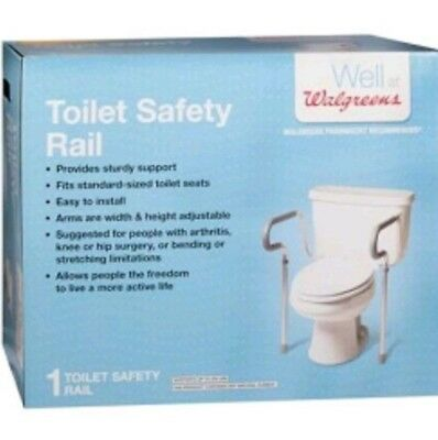 Walgreens Toilet Safety Grab Rail Width & Height Adjustable Up To 300 LBS