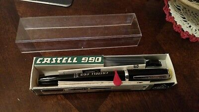 Vintage 1968 A.W. Faber-Castell 990 Fountain Pen -Black MIB Old New Stock Rare!!