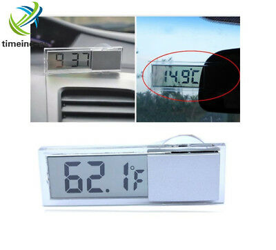 Digital Display Room Car Thermometer Home LCD Temperature Meter Indoor Outdoor E