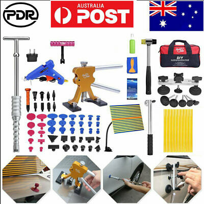 Car Body Paintless Dent Removal PDR Tool Kit Line Board Puller Lifter w/Air Bag