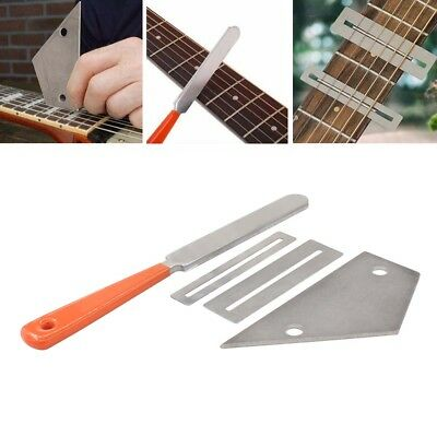Guitar Fret Crowning Luthier File Leveling Grinding Tool Kits for Guitar Repair