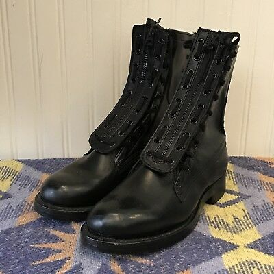 US Army Vietnam Mens 7.5 Vintage 1966 NOS Speed Lace Leather Cork Sole Boots