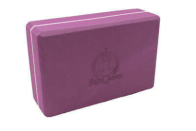 """High Density 4"""" Thick Yoga Block by Yoga Queen - Purple"""