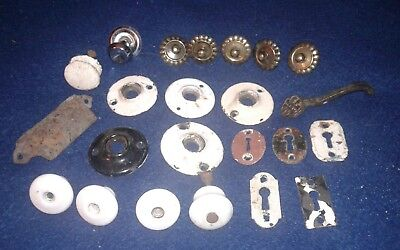 Lot of 23pcs Antique Vintage Assorted Restoration Hardware Fancy Odd Parts
