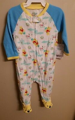 boys girls 3-6 months Disney baby winnie the pooh footed sleeper nwt