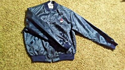 VINTAGE MICHELOB LIGHT BLUE SATIN JACKET ANHEUSER BUSCH COLLECTION MENS Large 1