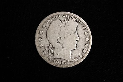 1907-O Barber Half Dollar Coin, Old United States Silver Half Dollar