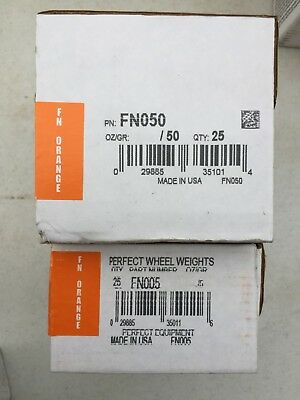 FN010 WHEEL WEIGHTS CLIP ON COATED LEAD TIRE WEIGHTS 2 BOXES PERFECT FN050