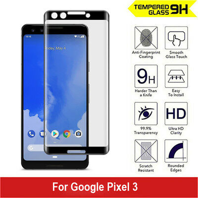 Google Pixel 3 3XL 3D Full Coverage Tempered Glass Screen Protector