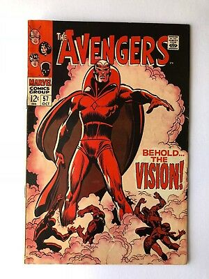 Avengers #57 (Oct '68, Marvel) 1st Appearance of Silver Age VISION!