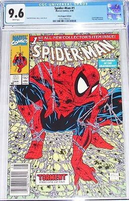 Spider-Man #1 CGC graded 9.6 Poly-Bagged UPC Edition McFarlane story, cover, art