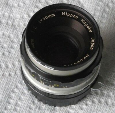 Nippon Kogaku camera lens - Nikkor-H Auto 1:2  f = 50 mm  Japan