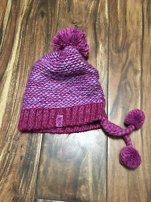 ✅ NWOT The North Face Flecka Earflap Beanie pink Youth M  girls #1