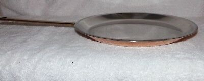 "Vintage CULINOX SPRING Copper Clad 11"" Crepe / Skillet - Made in Switzerland"