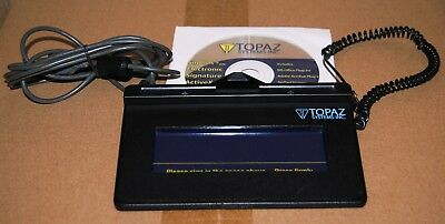 "TOPAZ SYSTEMS INC. 1x5"" SIGNATURE PAD MODEL T-S460-HSB-R  USB + STYLUS + DRIVERS"