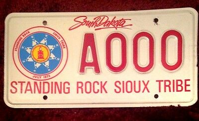 South Dakota Indian Standing Rock Sioux Tribe Tribal Vehicle License Plate Tag
