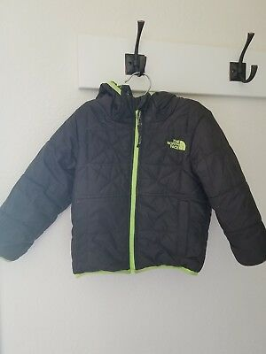 The North Face toddler boys 3t reversable hooded winter coat jacket