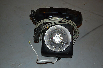 Vintage black Bell System western electric rotary dial telephone phone