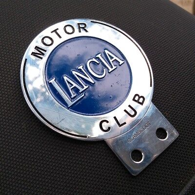 Vintage Lancia MOTOR car CLUB badge Italy for sale models fulvia patrs coupe