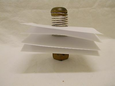 1960's Mid Century  Letter Mouse Wood & Metal Coil Mouse Letter Holder