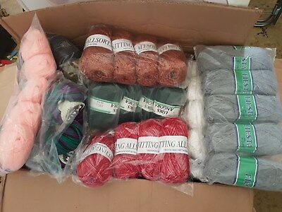 **BIG** BUNDLE KNITTING CROCHET WOOL/YARN BALLS 1000g RANDOM MIXED JOB WHOLESALE