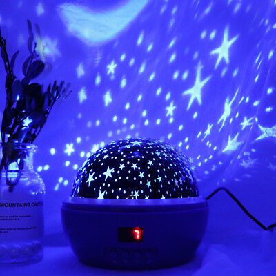 360°Rotating Projector Starry Night Lamp Star Sky Projection LED Night Light lot