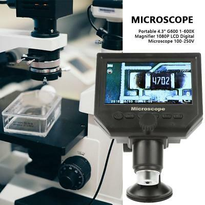"Microscopio Digitale 600x 3.6MP 8 LED Fotocamera Video 4.3"" LCD Display G600"