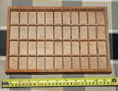 Wooden Typecase Tray Draw Letterpress printer # adana  8x5 user #
